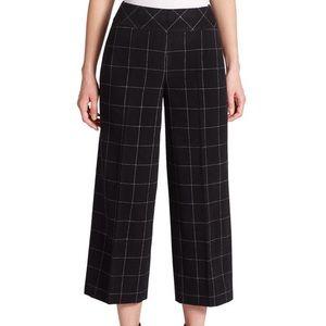 Akris Punto Windowpane Wool Corinne Crop Trousers